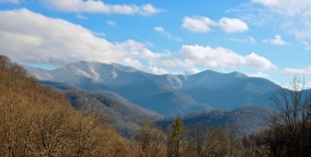 And we had some snow covered mountains for a split second.