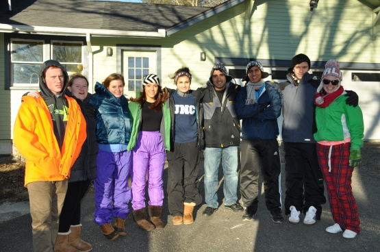 And my sister brought home some friends from college and we all went on an incredibly fun ski trip.