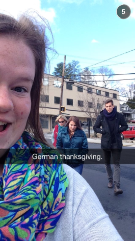 A previous counselor from Germany came and spent Thanksgiving with my family.