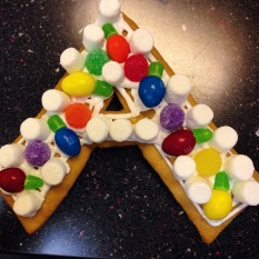 We decided to make gingerbread houses in Art, but apparently, gingerbread houses are a lot harder to make than I originally thought.