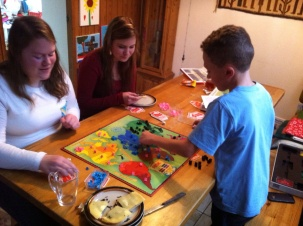 We also played more traditional board games like Risk.