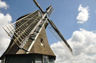 On a mad hunt for a cheese factory, we passed this windmill again, and I couldn't miss my opportunity to snap another shot.