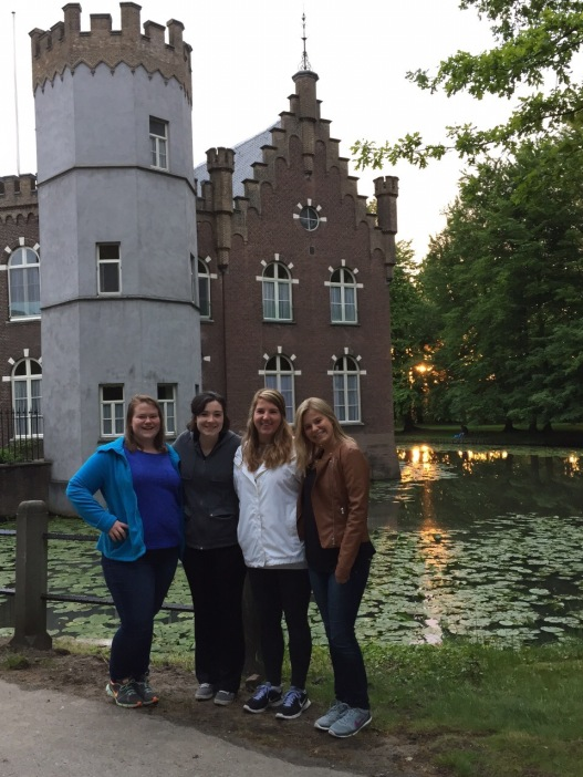 The local castle in Boxtel. Moat and all.
