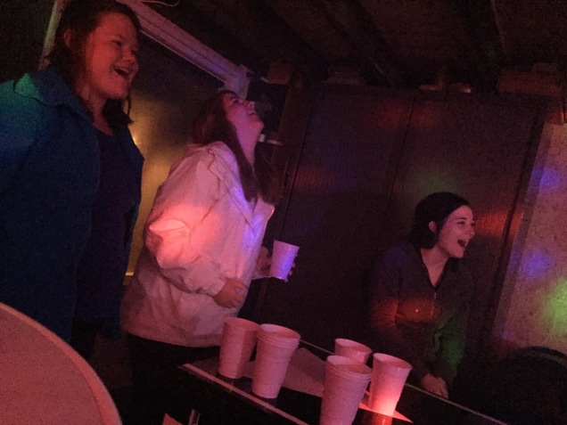 Beer pong with the best.