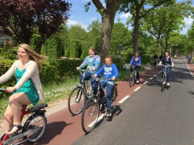 Biking is the main mode of transportation in the Netherlands. The lack of hills definitely helps.