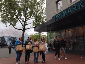 And with a group of four girls, a shopping day is always required.
