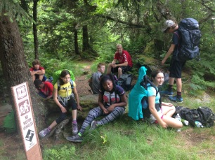 During our day hike. Little did they know, we were about to take a break and have lunch.