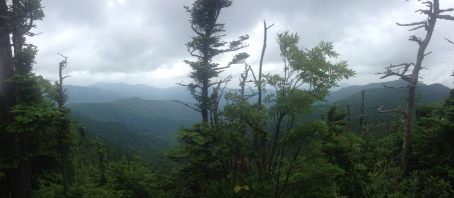 I love my NC mountains, even with dauntingly cloudy skies.