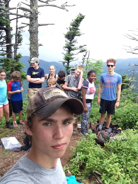 And the summit group at the summit of Cattail Peak.
