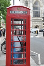 How cheeky. I found a red telephone box by Westminster Abbey. The rumors are true: they all reek of urine.