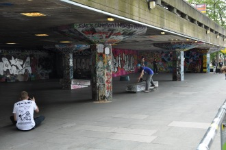 I thought this was a really cool skate park that we stumbled across on our walk around London. Its all graffiti-ed and underground. Very cool London, very cool.