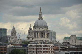 Here's St. Pauls's Cathedral from a distance. Again, we didn't go in. There is just too much to do in London.
