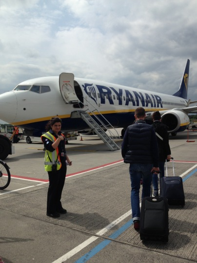 First Ryan Air flight ever! Now I understand why they are so cheap! Great for short flights and young travelers.