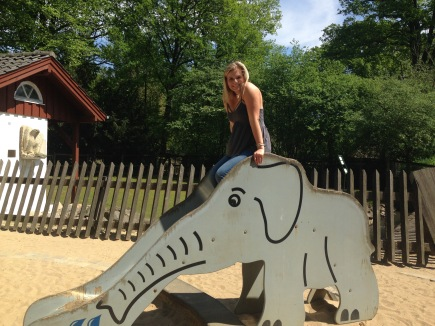 Marguerite found an elephant, she was pretty excited.