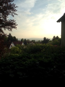 The view from Johannes's balcony