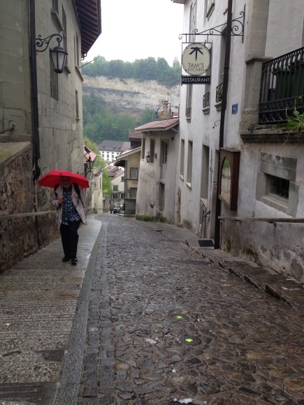 The streets of Fribourg