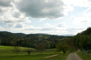 The view from the end of our Basel hike.