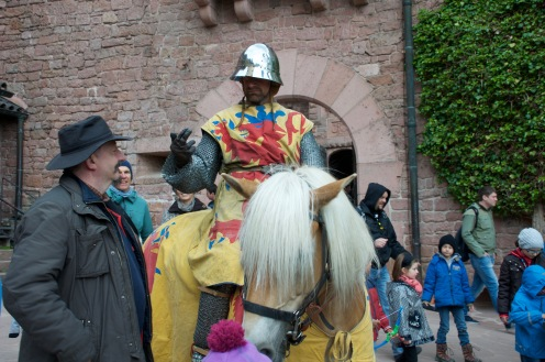 The guards at the entrance of the castle.