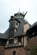 The interior architecture of the castle.