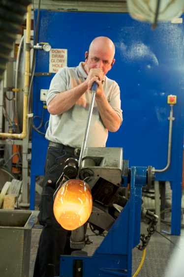 Blowing the Waterford crystal