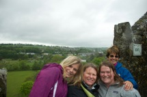 At the top of the castle.