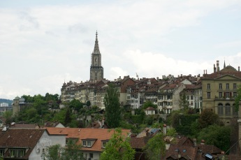 That tall thing in the distance, thats the Bern Cathedral