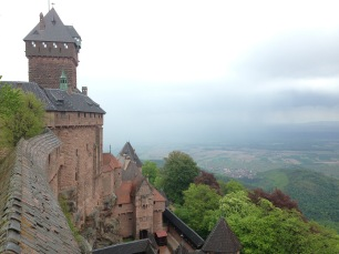 The view from a side window of the castle.