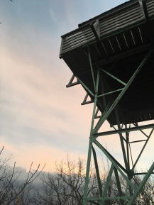 I took my brother and his girlfriend up to the Green Knob Firetower for a super windy sunset.