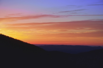 A good friend of mine endured the 6:00 wake up time and the cold wind to catch my first ever Roan Mountain sunrise. We even ended up being models for some other photographers with our same idea.