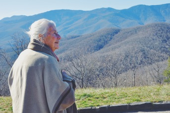 I had to show off a bit of the parkway to Oma, so we stopped at a few overlooks for some fresh air and beautiful views.
